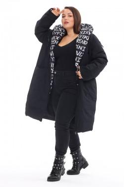 Женская удлиненная зимняя куртка 212-71 Черный