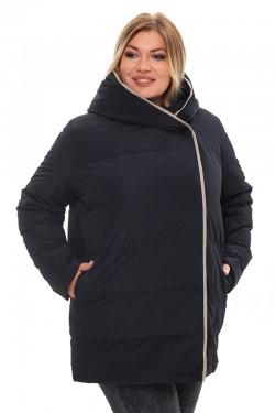 Женская удлиненная зимняя куртка 21231 Черный