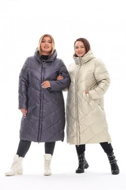 Женская удлиненная зимняя куртка 21112 Графит