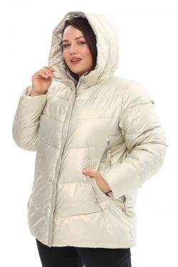 Женская удлиненная зимняя куртка 21508 Жемчуг