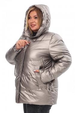 Женская удлиненная зимняя куртка 21508 Капучино