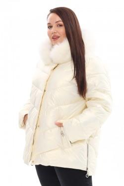 Женская удлиненная зимняя куртка 21188 Белый