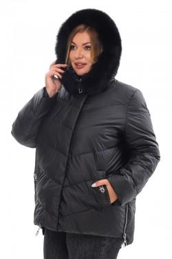 Женская удлиненная зимняя куртка 21188 Черный