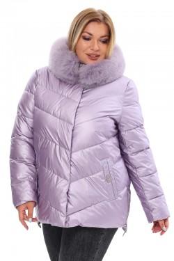 Женская удлиненная зимняя куртка 21188 Сирень
