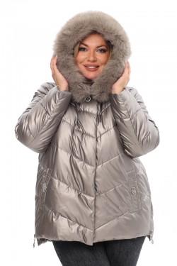 Женская удлиненная зимняя куртка 21188 Капучино