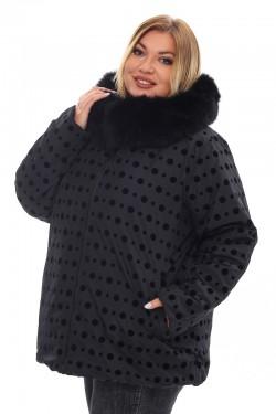 Женская удлиненная зимняя куртка 212-36 Черный