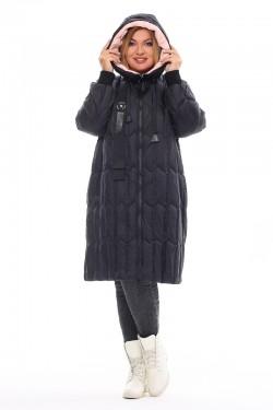 Женская удлиненная зимняя куртка 21085 Черный