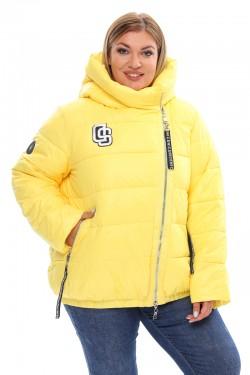 Женская удлиненная зимняя куртка 7843А Желтый