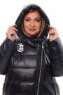 Женская удлиненная зимняя куртка 7843А Черный