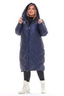 Женская удлиненная зимняя куртка 21112 Синий