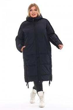 Женская удлиненная зимняя куртка 212-08 Черный